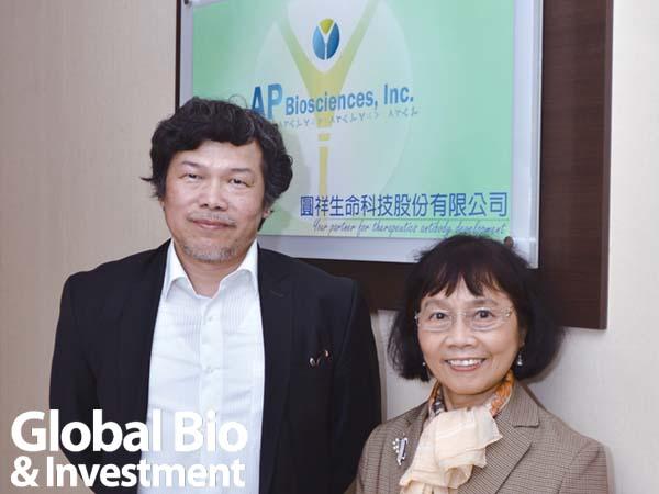 圓祥生技董事長黃瑞蓮(右)與總經理何正宏(左)。(圖_楊傑名)