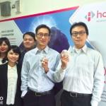 06-(圖說)HCMedi-總經理鄭傑升(-右二)-與經營團隊。