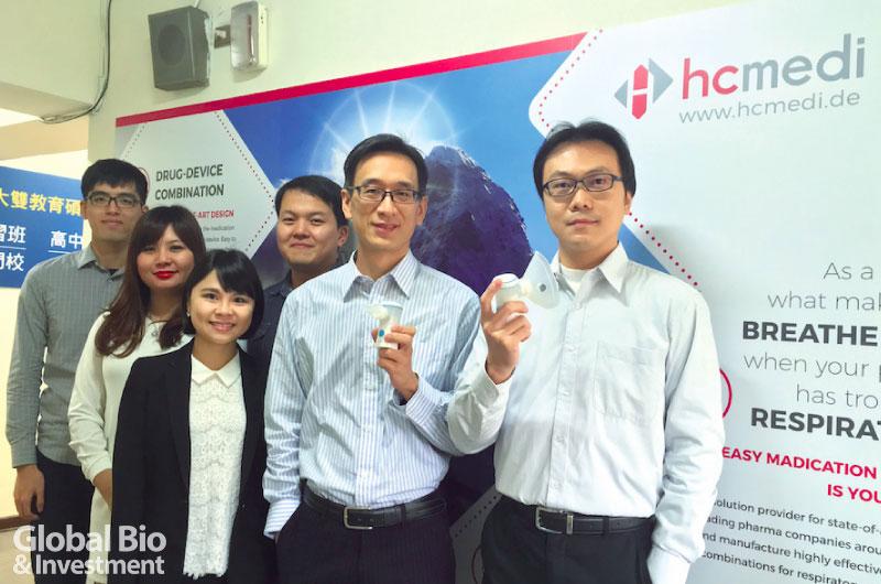 HCMedi-總經理鄭傑升(-右二)-與經營團隊