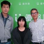 優照護總經理劉詩瀚(圖左)與照護人員支持總監常靜蓉(中立者)。