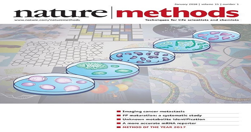 圖片取自《Nature method》January 2018, Volume 15封面