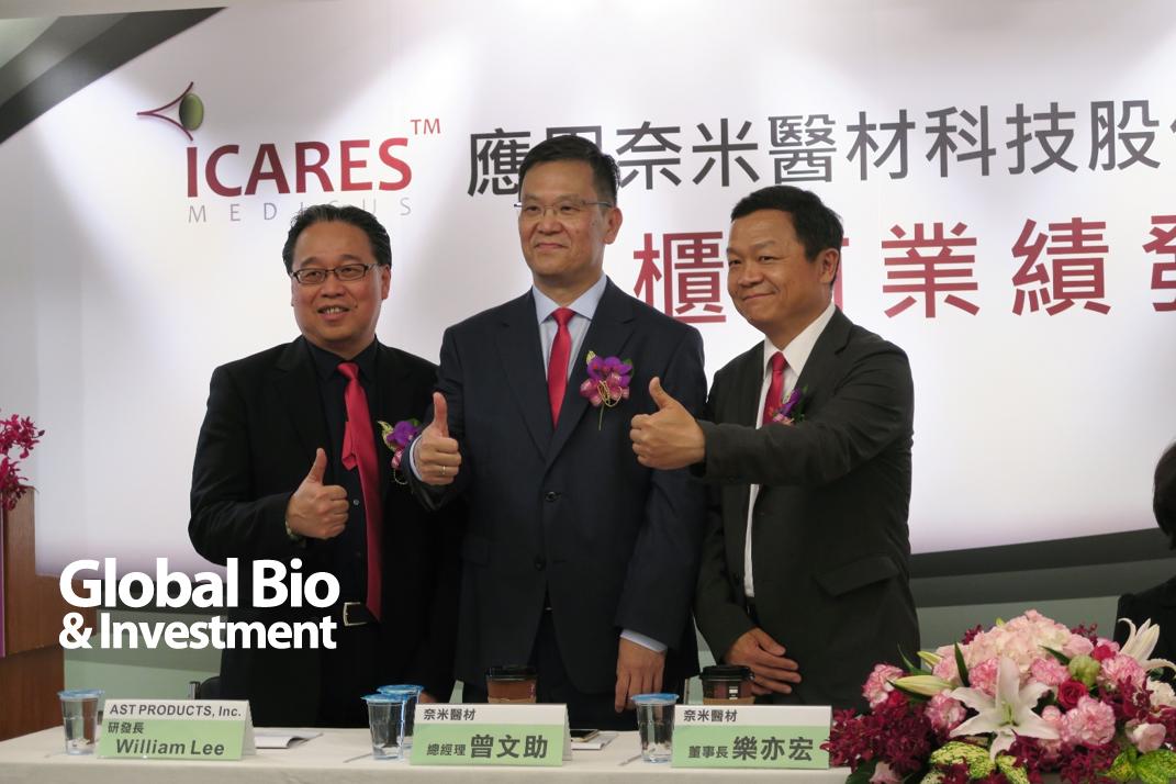 左起:研發長William Lee、董事長樂亦宏、總經理曾文助