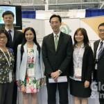 TFDA署長吳秀梅(左四)率團參加於波士頓舉行的2018 DIA年會,左五為駐波士頓經文處處長徐佑典。