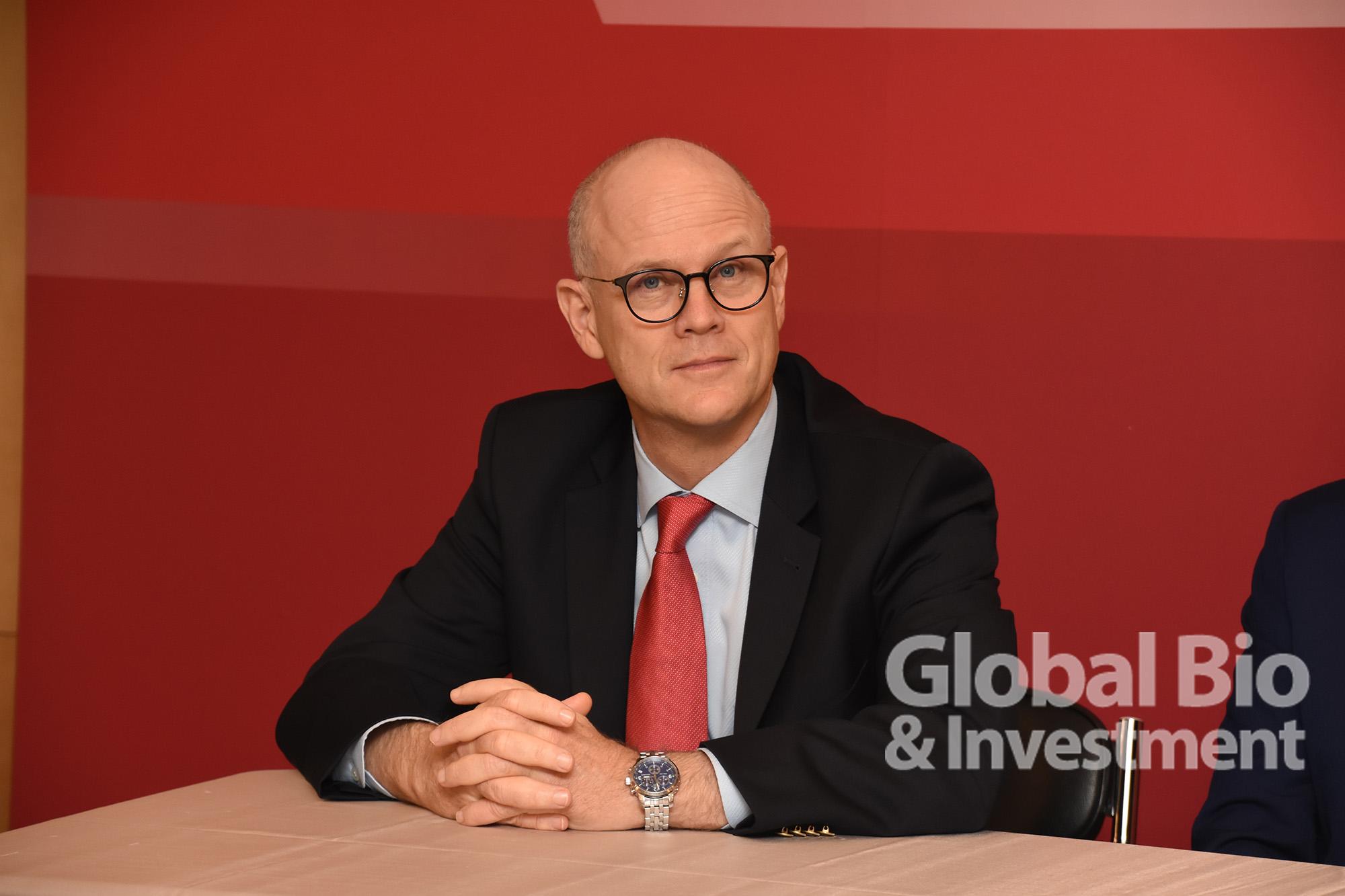 瑞士商務辦事處處長傅瑞(Rolf Frei)。(攝影:林嘉慶)