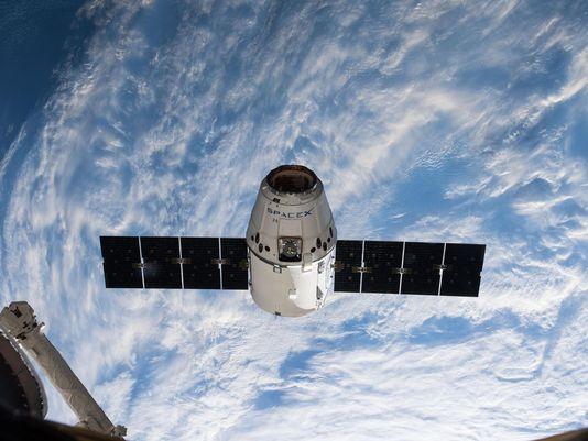 SpaceX Dragon貨運太空船。(圖片來源:網路))