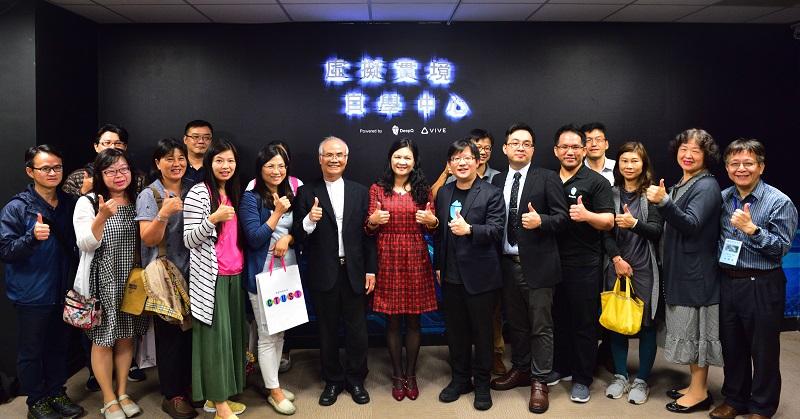 中臺科大重新定義授課與學習方式,攜手HTC DeepQ 成立首間VR自學中心。(照片提供:HTC DeepQ)