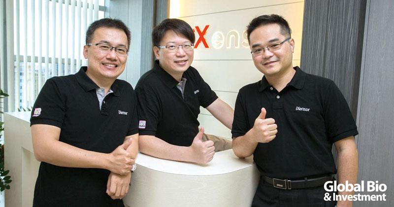 安盛生科三位創辦人左起執行長蔡東孟、技術長陳彥宇、醫療長陳階曉。(圖/安盛生科提供)