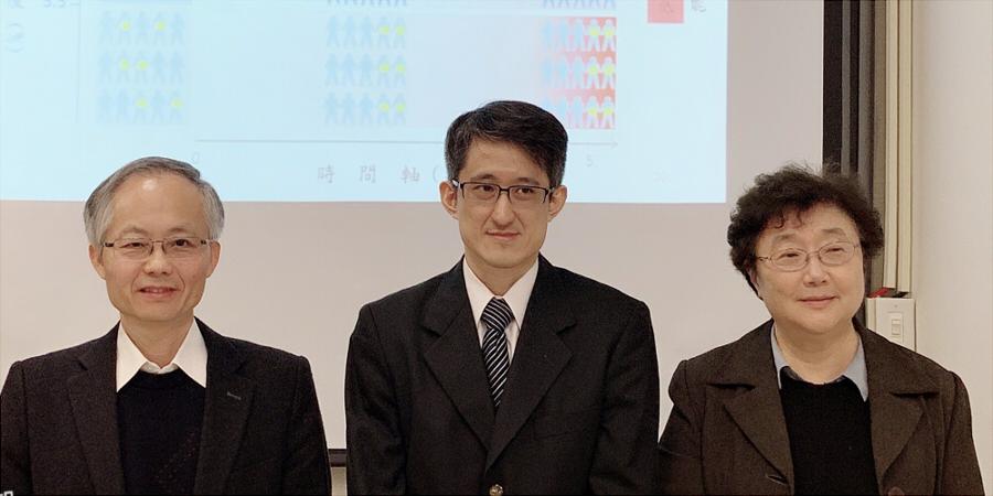 研究團隊合照,左至右 許志成副所長、吳易謙醫師、熊昭所長 (圖片來源: 國衛院)
