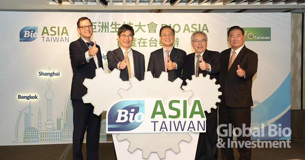 亞洲生技大會 BIO Asia 今夏首度將在台舉行 左起:美國商會執行長 William Foreman 、科技部部長 陳良基、產協理事長 李鍾熙、產協秘書長 黃博輝、展昭 總經理 林茂廷(攝影: 環球生技)