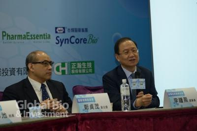 右為:台灣生物產業發展協會理事長李鍾熙。(攝影:林嘉慶)