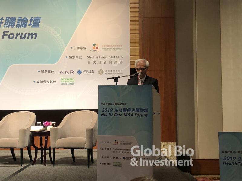 台灣併購私募股權協會理事長盧明光 (攝影:環球生技)