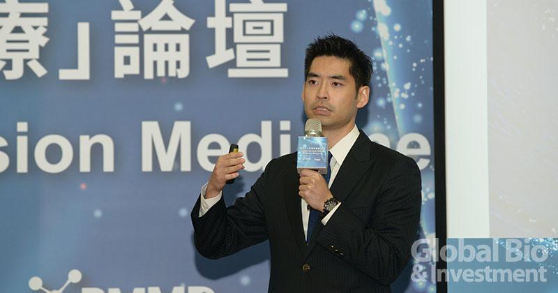Pacific 8 Ventures合夥人傅斯誠醫師合夥人,由投資觀點切入未來精準醫療。(攝影:林嘉慶)
