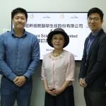 左起Mr. Tan Ming Jie (CSO & Co-Founder)、Mr Daniel Tan (CEO & Co-Founder)、瑪旺黃美月董事長、瑪旺行銷長洪唯倫醫師、瑪旺吳佳春總經理。(瑪旺公司提供)