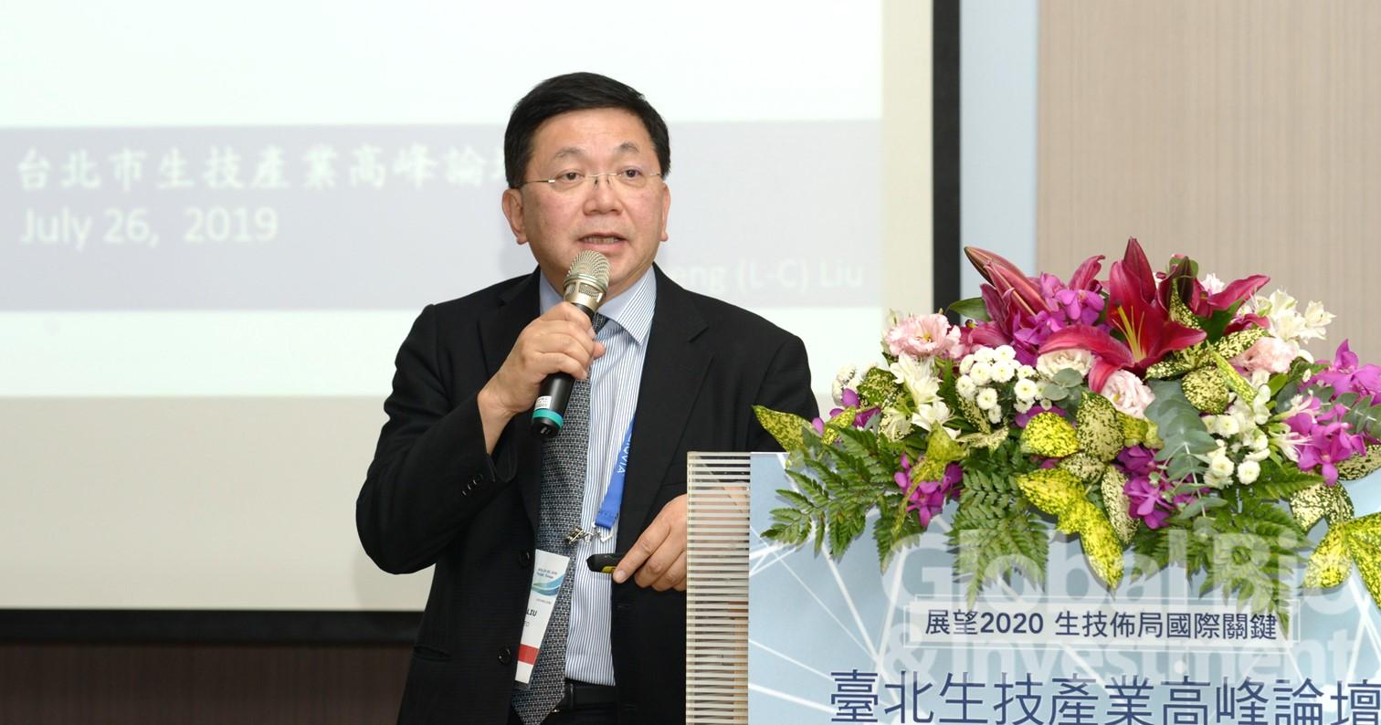劉理成分享台康生技如何布局全球藥物開發,以及市場策略與實務。(攝影:林嘉慶)