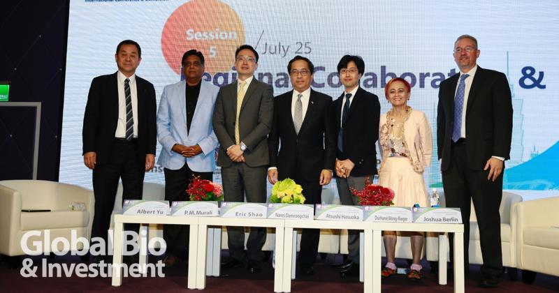 今(25),Bio Asia Taiwan的現場,針對生技產業的「跨界合作」議題進行了研討。(攝影/羅翊芳)