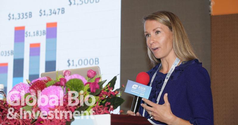 矽谷銀行Katherine Anderson以「亞洲在全球生命科學暨醫療照護的崛起角色」為題演講 (攝影/彭定凱)