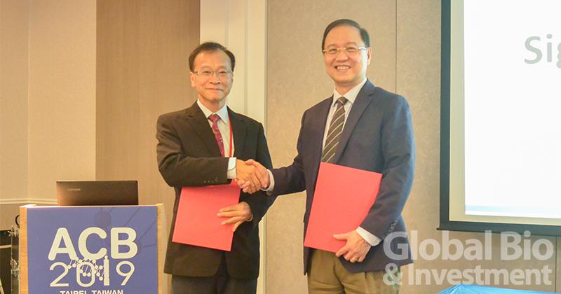 今日(2)下午,在2019亞洲生物技術大會(ACB)會場,亞洲生物技術聯盟(AFOB)理事長李文乾與台灣生物產業發展協會(TBIO)理事長李鍾熙正式簽訂合作(MOU)。(圖片來源:主辦單位提供)