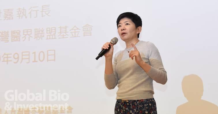 台灣醫界聯盟基金會執行長林世嘉。(攝影/吳培安)