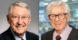 2019拉斯克獎基礎醫學獎得主。左為Max D. Cooper博士,右為Jacques Miller博士。(圖片來源:Albert And Mary Lasker Foundation)