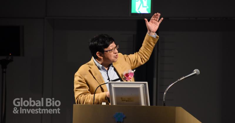 Sony電腦科學實驗室執行長北野宏明分享人工智慧如何程為科學探索的驅動引擎。(攝影/巫芝岳)