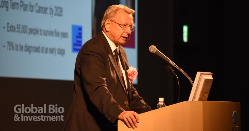 倫敦癌症研究所(ICR)執行總裁Paul Workman表示,以英國的角度來說,日本毫無疑問是世界科學研究的發電廠(powerhouse)。(攝影/巫芝岳)