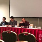 數位醫療論壇,左至右分別為:陳彥諭、John Lin、傅斯誠、Benjamin Hu、Dennis Lee (攝影/巫芝岳)