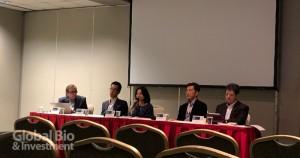 左至右分別為:NeuroLucent CEO Bill Kohlbrenner (moderator)、陳播暉、鄭晴之、James Huang、Toru Seo (攝影/巫芝岳)