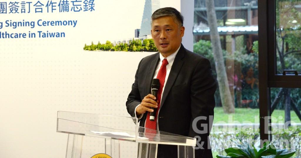 羅氏大藥廠全球個人化醫療副總裁Ronald Park。(攝影:吳培安)