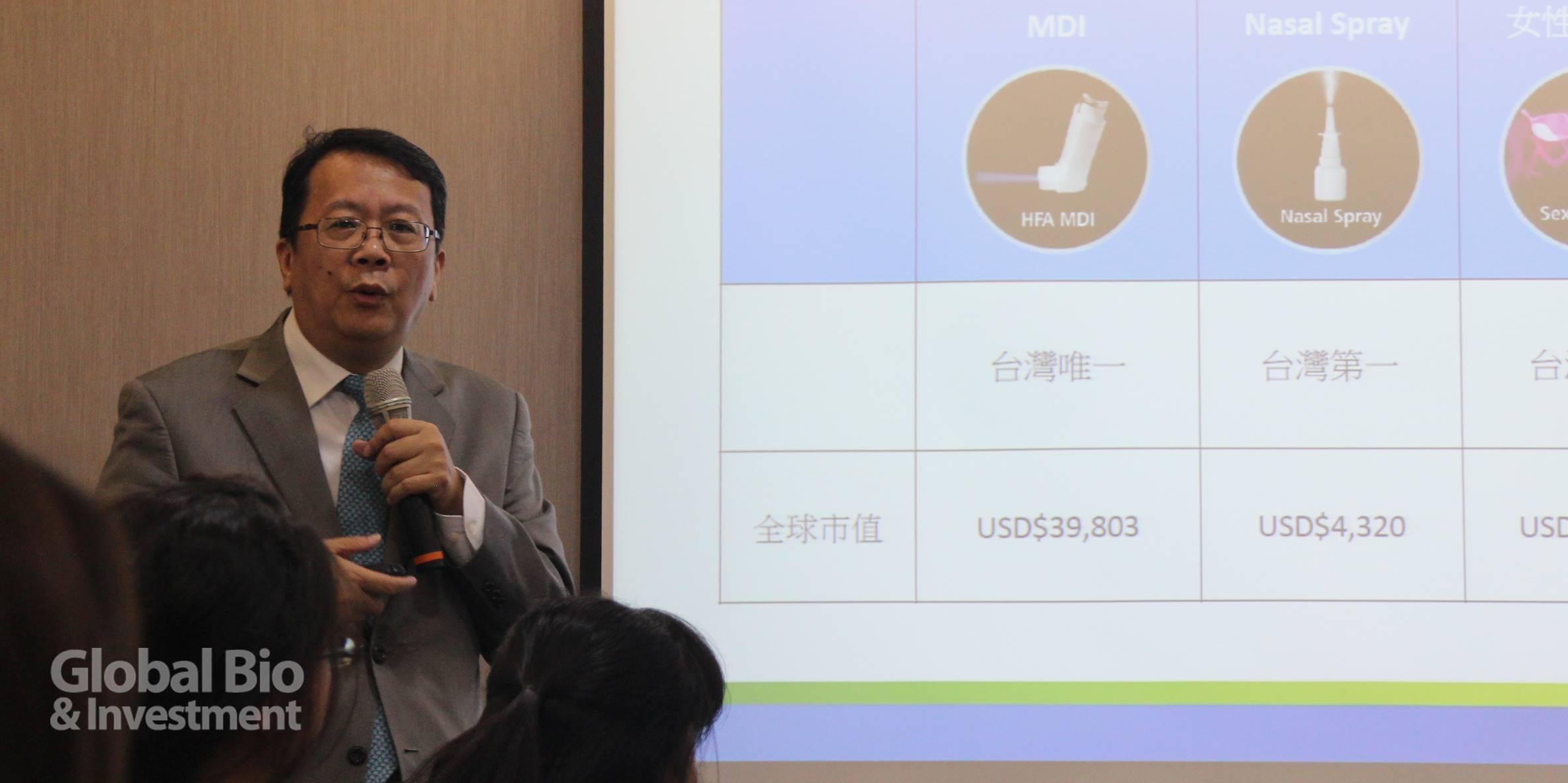 健喬副總經理白宏欽表示,公司未來市場將聚焦中國和東南亞,並放眼全球.(攝影/巫芝岳)