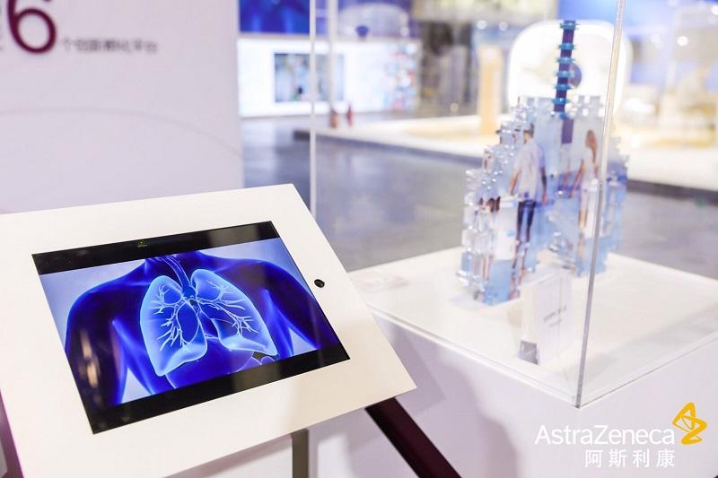 《中國國際進口博覽會》心誠鎂手持篩網霧化器 獲醫院端高度好評。(圖片來源:阿斯特捷利康中國)