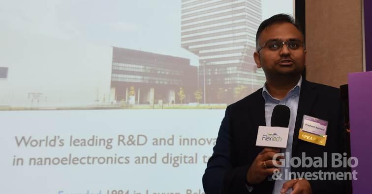 歐洲跨校際微電子研究中心(IMEC)專案經理Prashant Agrawal。(攝影:吳培安)