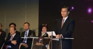 翁啟惠表示,希望醫療科技展能帶動產業環境新氣象和新動能。(圖片/林嘉慶)