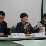 「數位醫療商業模式」首場座談會今登場。中研院曹昱博士(左)、林世嘉執行長(中)、中央大學蔡宗翰教授(右)