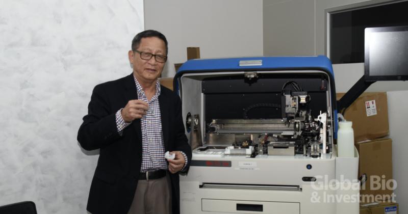 新冠檢測熱門股 瑞磁生技今上市。圖為瑞磁生技總經理何重人 (攝影/巫芝岳)