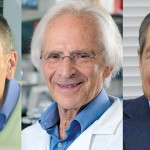 圖一:唐獎第四屆生技醫藥獎得主左起:查爾斯.迪納雷羅、馬克.費爾德曼及岸本忠三。(圖/唐獎教育基金會網站)