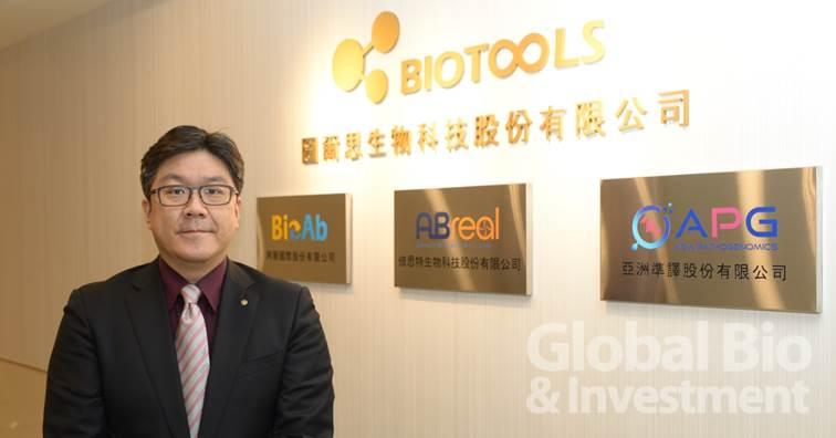 劉君豪執行長表示,亞洲準譯是圖爾思生技集團邁向臨床應用、所成立的第一家衍生公司。(攝影:林嘉慶)