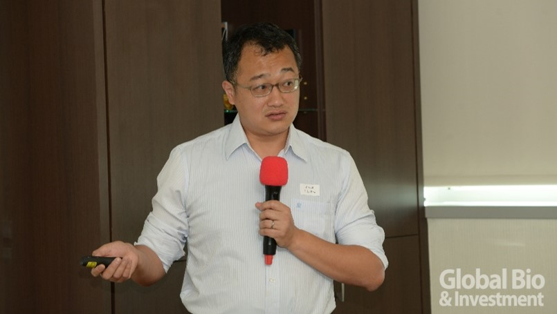 生技中心產業資訊組蔡維原博士。(攝影:林嘉慶)
