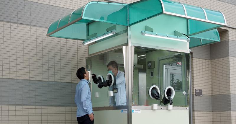 工研院推出「正壓式檢疫亭」採檢量達240人、潔淨度優於外科手術室(圖/工研院提供)