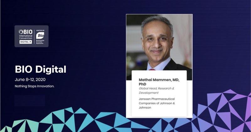楊森R&D全球總負責人Mathai Mammen:新冠疫苗百家爭鳴 產業將整體受惠 (圖片來源:BIO官網)