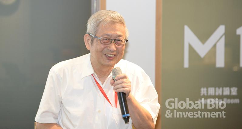 健裕生技股份有限公司李連滋總經理,以「以天然物新藥搶攻再生藍海市場」為題。(攝影/林嘉慶)