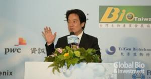 副總統賴清德表示,希望將生技 打造成下一個兆元產業。(攝影/林嘉慶)