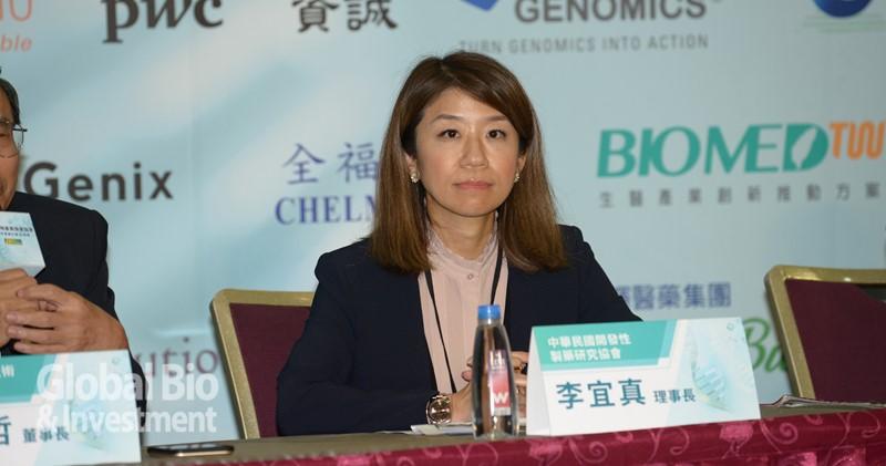 開發性製藥研究協會(IRPMA)理事長暨台灣安進藥品(Amgen)總經理李宜真。(攝影:林嘉慶)