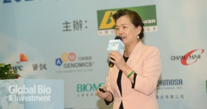 經濟部次長王美花以『臺灣生技產業發展之策略與展望』為專題。(攝影:林嘉慶)