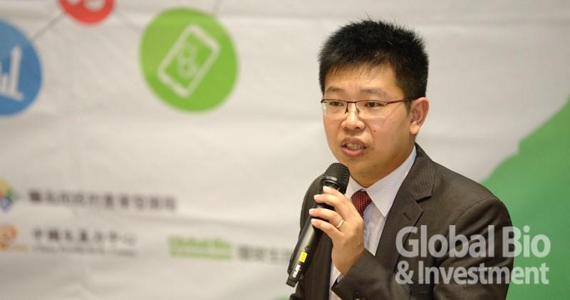 商之器科技臺灣區總經理丁偉能,以「醫療套裝軟體智慧藍海布局實務」為題。(攝影/林嘉慶)