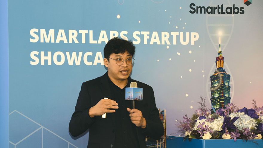 博信生技,在Smartlabs於醫療科技展中舉辦的新創公司Showcase活動中,展示公司利基產品、優勢。(攝影/劉端雅)
